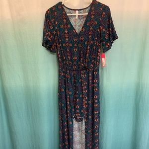 romper with maxi overskirt. brand new, never worn